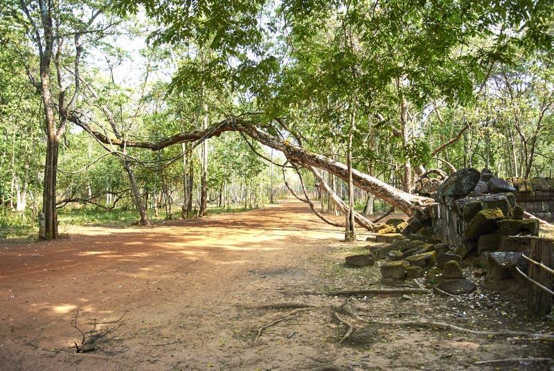 Era di Angkor del tempio della screpolatura di Prasat Kra fotografie stock