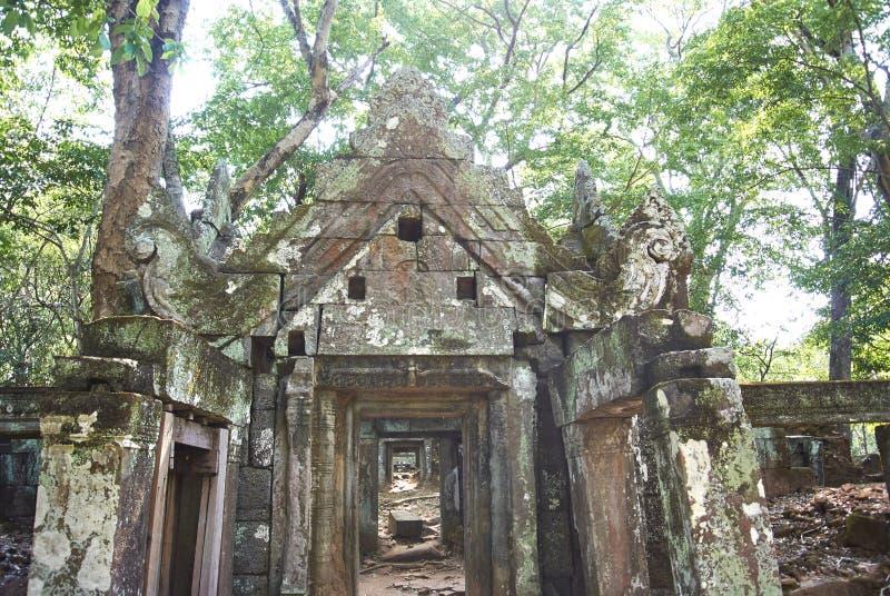 Era di Angkor del tempio della screpolatura di Prasat Kra immagine stock libera da diritti