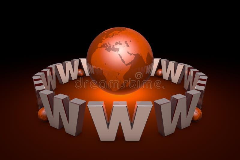 A era nova da informação Tecnologias da Web globalization interno ilustração stock