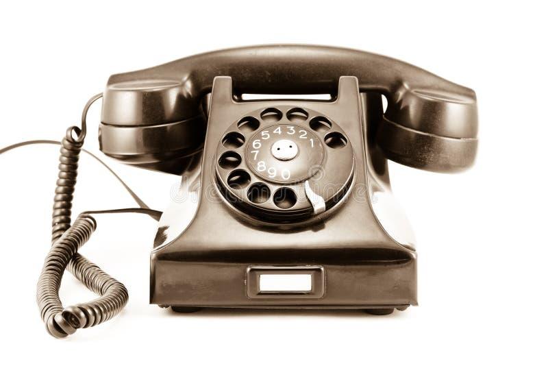 era roku 1940 telefonu starej fotografii sepiowa obraz royalty free
