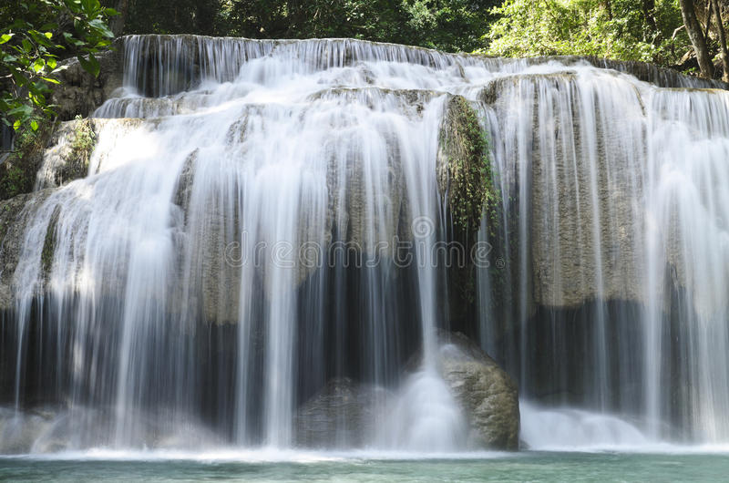 Era van waterfall. In kanchanaburi province,Thailand royalty free stock photography