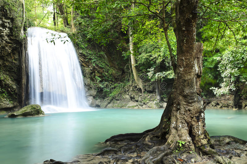Era van waterfall. In kanchanaburi province,Thailand stock images
