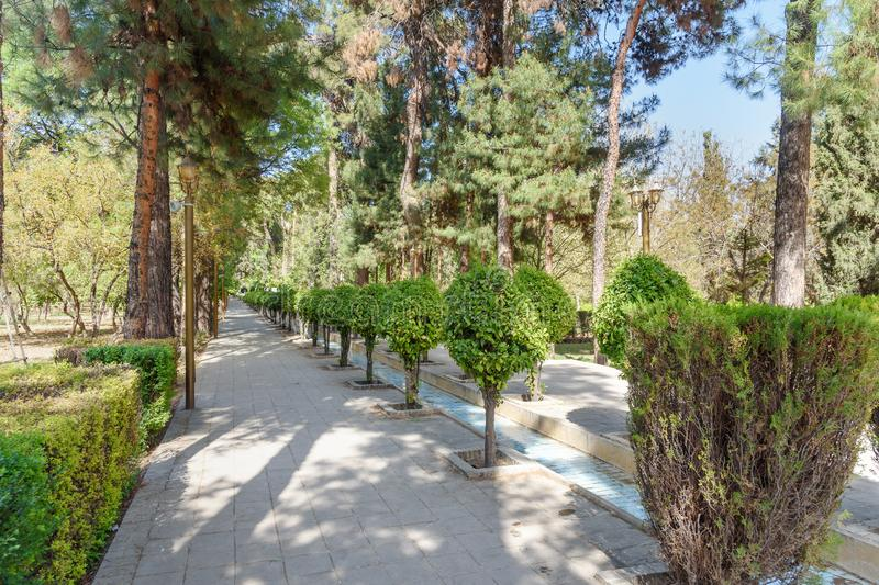 Eram Garden in Shiraz. Iran. Eram Garden is historic Persian garden in Shiraz. Iran royalty free stock photos