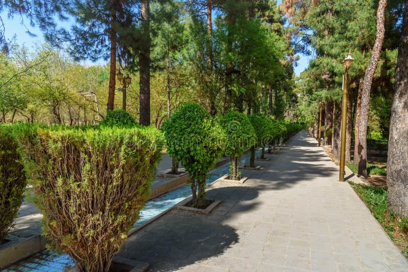 Eram Garden in Shiraz. Iran. Eram Garden is historic Persian garden in Shiraz. Iran stock photos