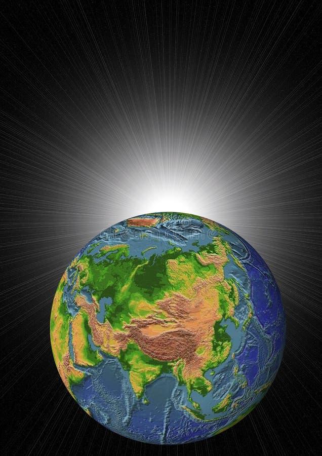 Erarth und Sonne stock abbildung