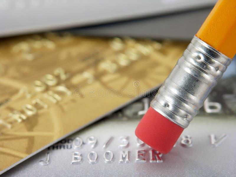 Erase Debt 2 royalty free stock images