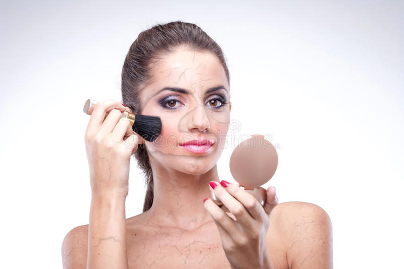 Erase old skin stock photo