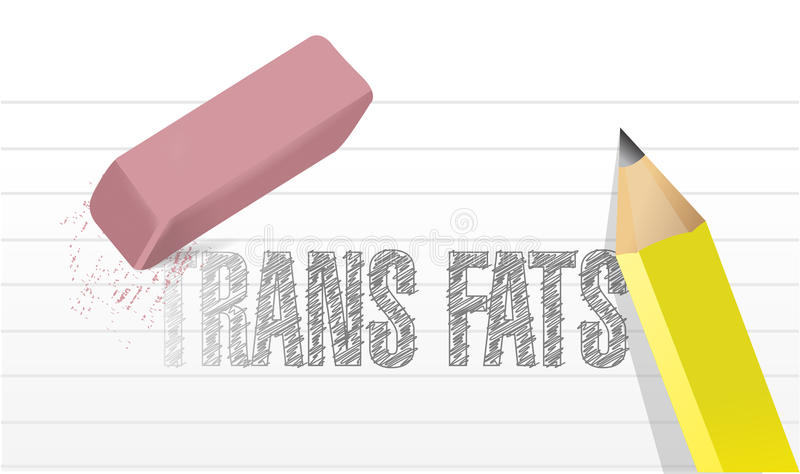 Erase trans fats concept illustration design vector illustration