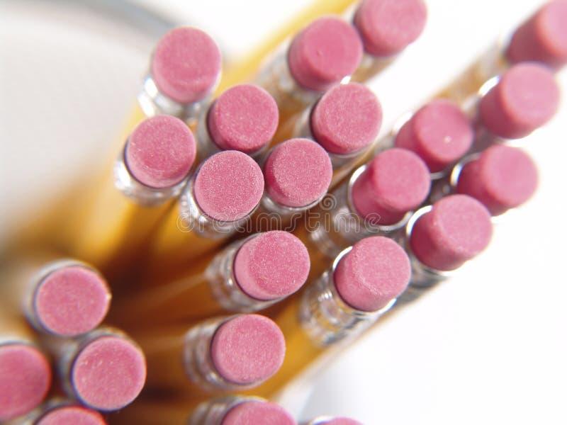 Eraser di matita 2 fotografia stock libera da diritti