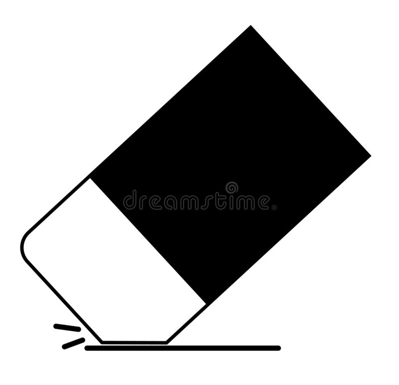 Eraser icon on white background. eraser icon for your web site d royalty free illustration
