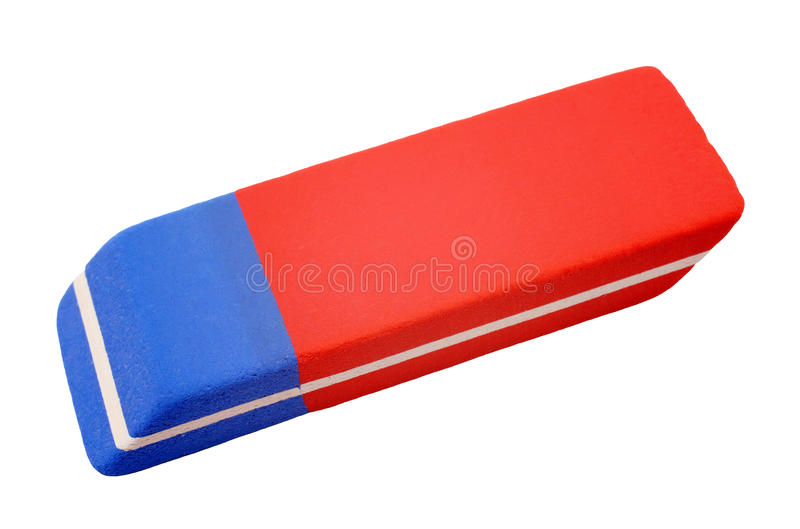 Eraser - isolated on white background royalty free stock images