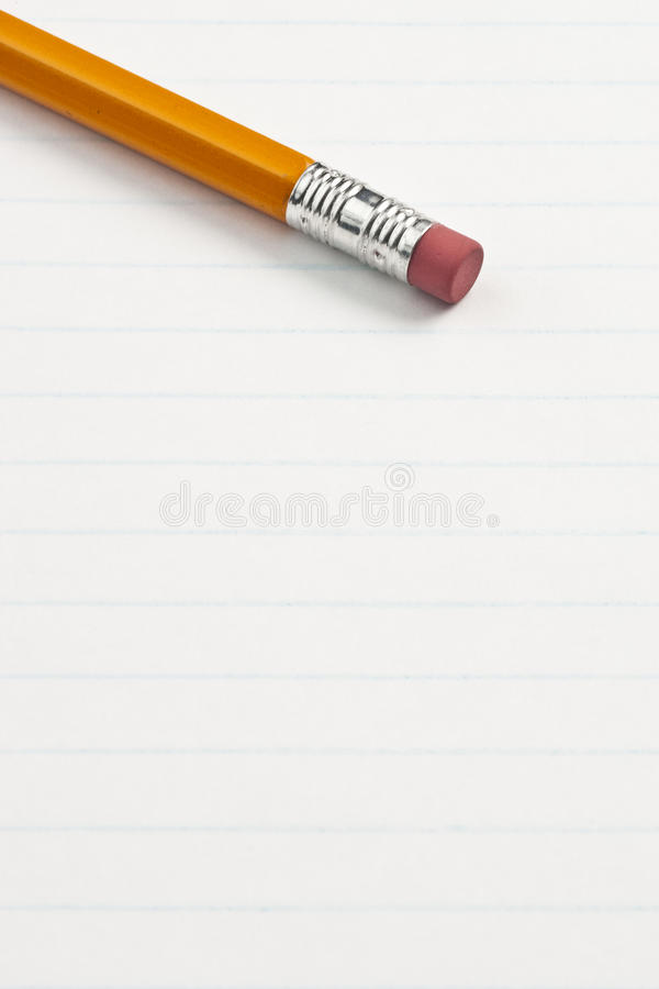 Download Eraser Pencil End On Note Pad Paper Stock Photo - Image: 15118122