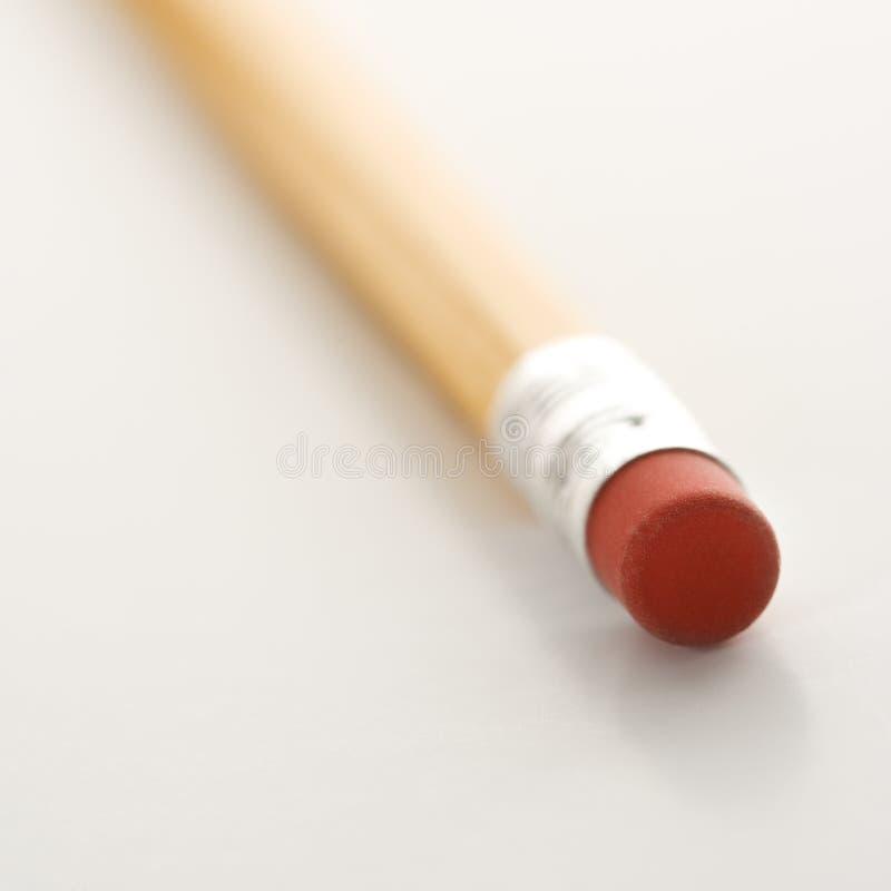 Eraser su una matita. fotografie stock