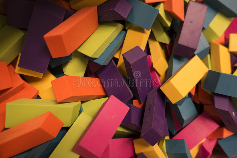 Erasers royalty free stock photography