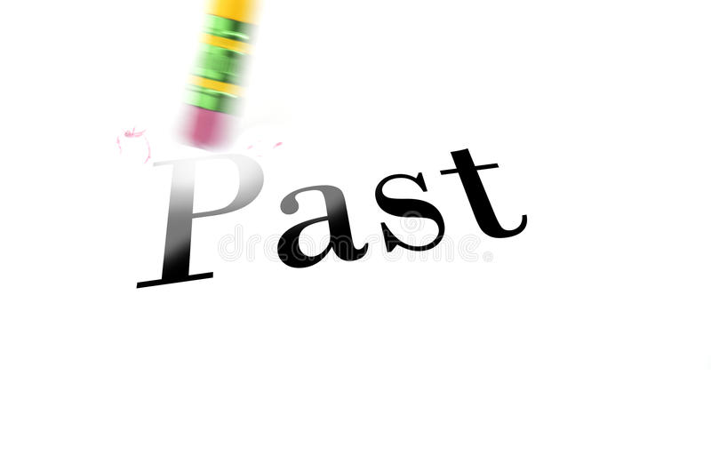 Erasing The Past With Pencil Eraser Stock Photo - Image of ...