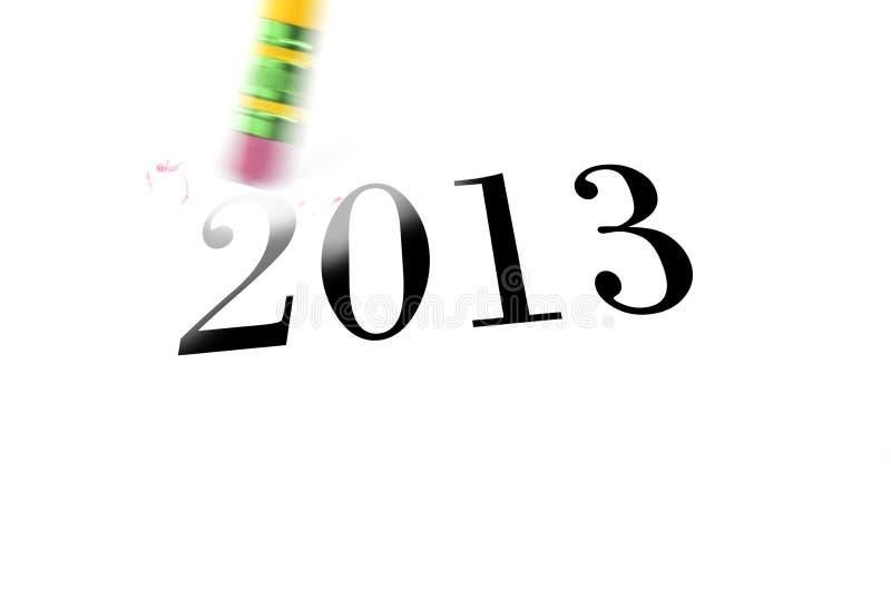 Erasing 2013 With Pencil Eraser Stock Photos