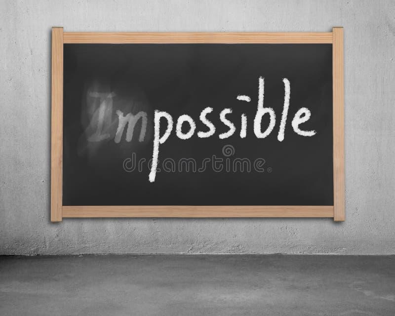 Download Erasing Word Impossible On Black Wooden Chalk Stock Image - Image: 36489313