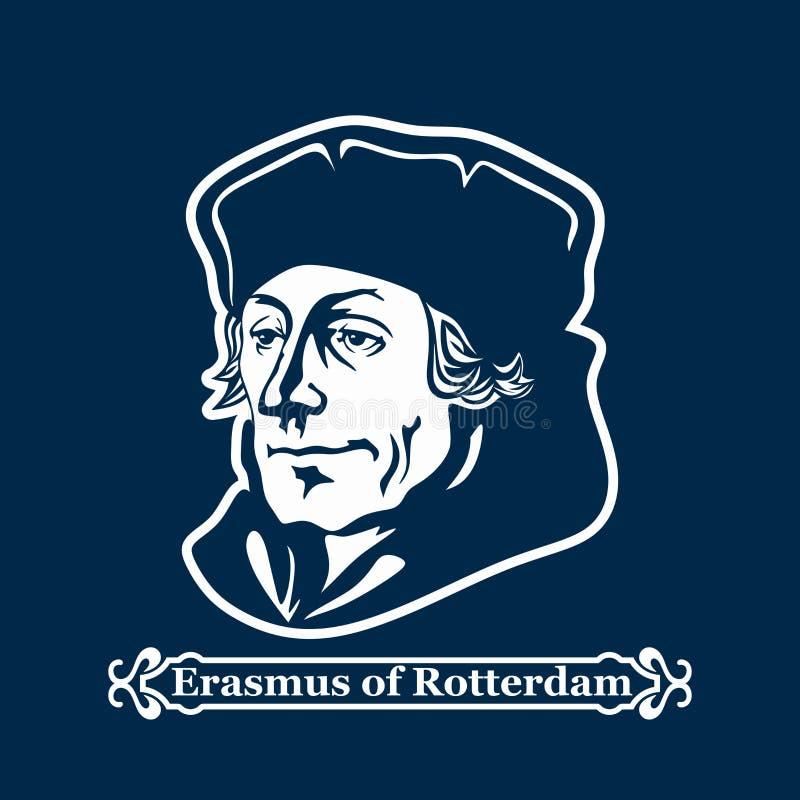 erasmus鹿特丹 新教 欧洲改革的领导 皇族释放例证