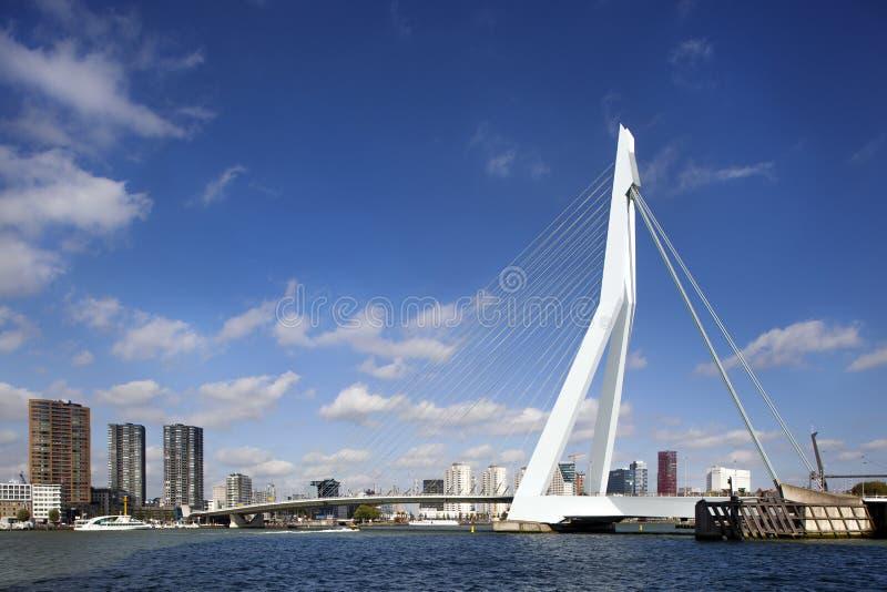 ERASMUS-Brücke in Rotterdam stockfotografie