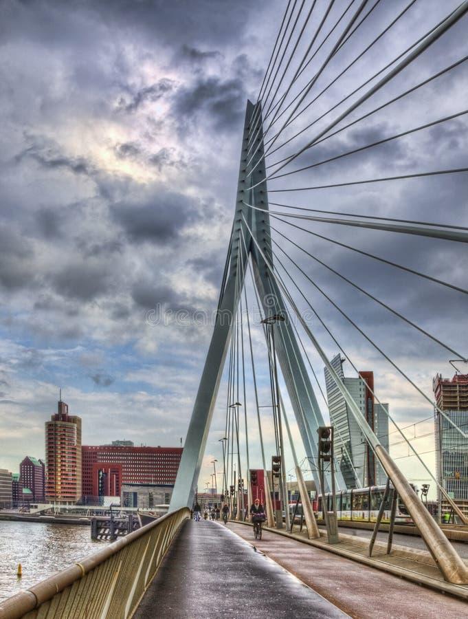 ERASMUS-Brücke - Rotterdam stockbild