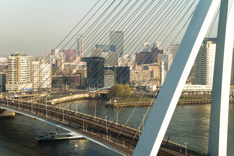 Download The Erasmus bridge editorial photography. Image of building - 83715332