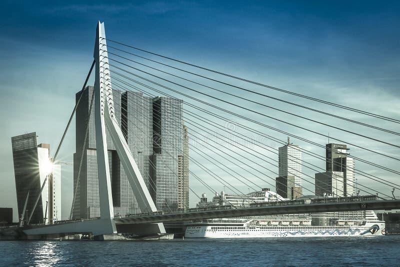 Erasmusbrug Rotterdam Pays-Bas image libre de droits