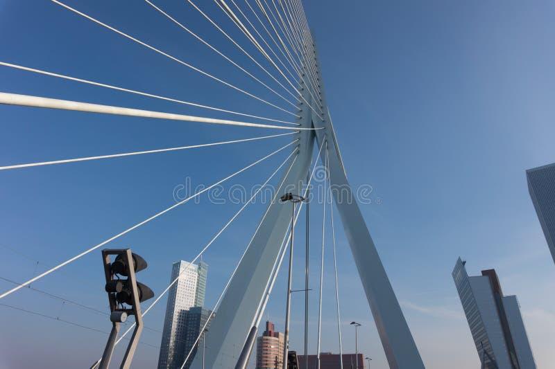 Erasmusburg i Rotterdam, Nederländerna arkivbild