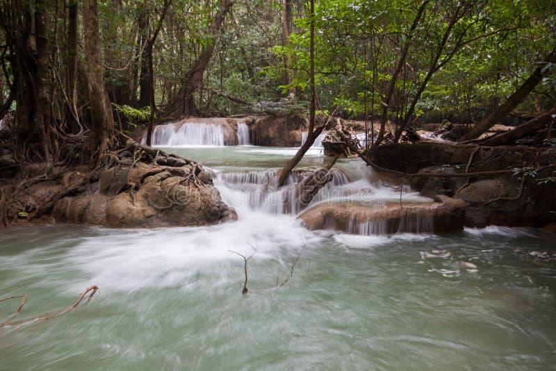 erawan водопад стоковая фотография