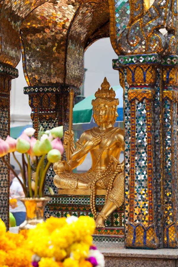 Erawan Shrine; Bangkok. Detail of Erawan Shrine in Bangkok; Thailand stock images