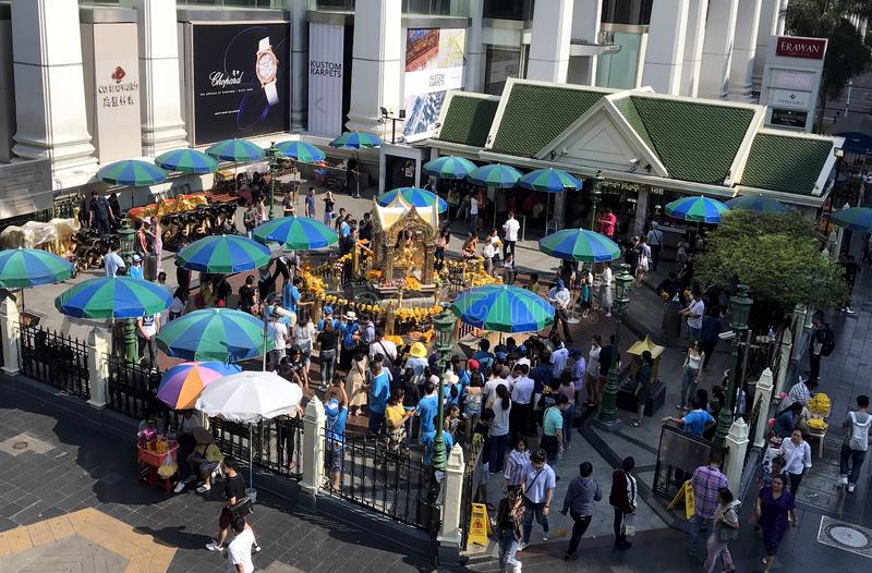 Erawan Shrine in Bangkok royalty free stock images