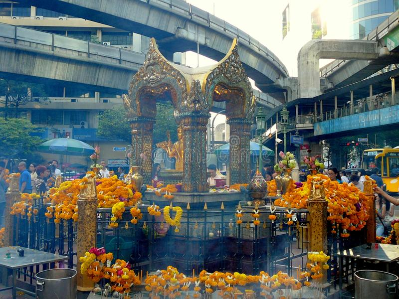 Erawan Shrine in Bangkok Thailand royalty free stock photos