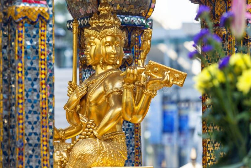 Erawan Shrine, Siam Square district. Bangkok, Thailand royalty free stock image