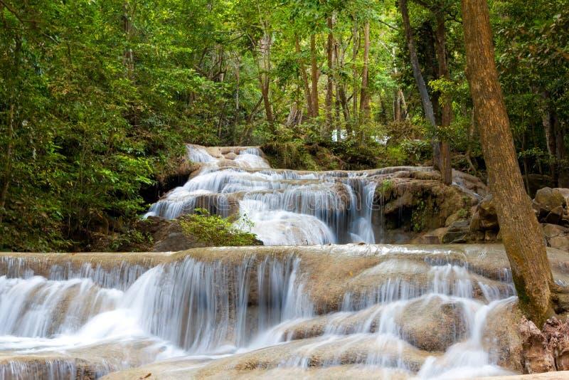 Erawan vattenfall royaltyfri foto