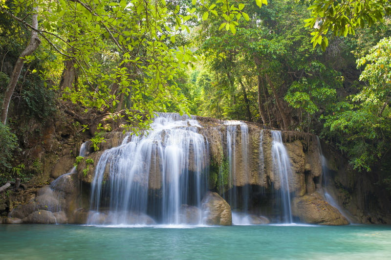 Erawan-Wasserfall Nationalpark lizenzfreies stockfoto