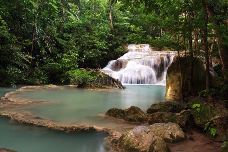 Download Erawan Waterfall, stock image. Image of amazing, cool - 26539079