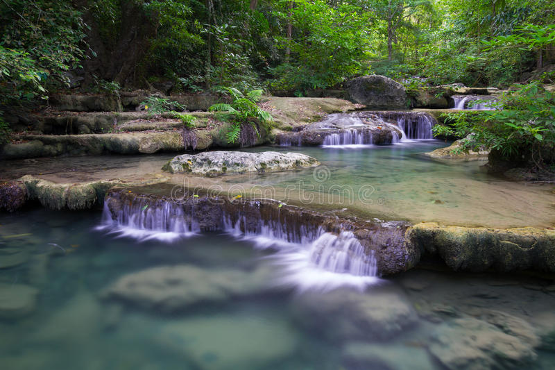 Download Erawan Waterfall In Thailand Stock Photo - Image: 28083966
