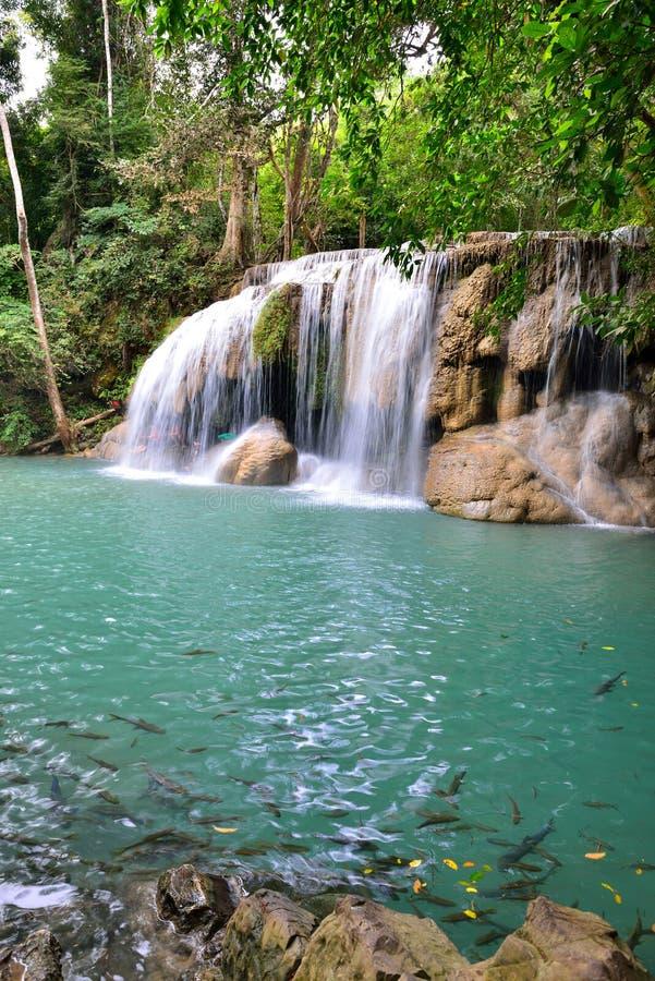 Download Erawan Waterfall, Thailand editorial stock photo. Image of rainforest - 28474188