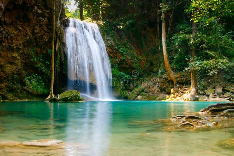 Erawan waterfall, Thailand royalty free stock photography