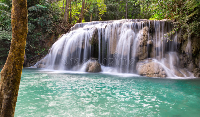 Download Erawan waterfall stock photo. Image of exotic, green - 38870380