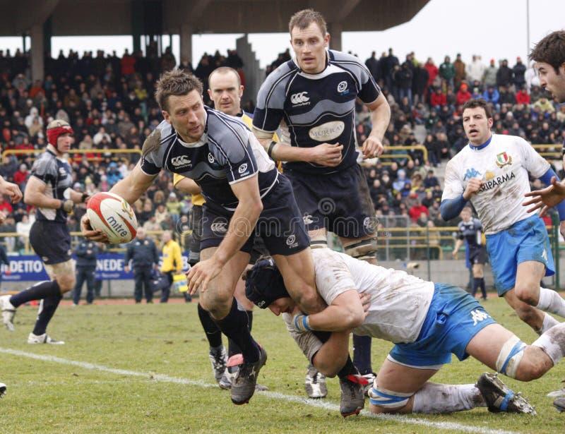 erb Italy narodów rugby Scotland vs sześć fotografia stock