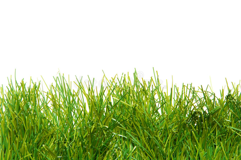 Erba artificiale fertile verde fotografia stock