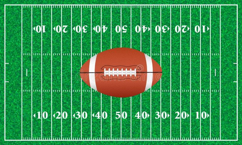 Erba del campo di football americano illustrazione di stock