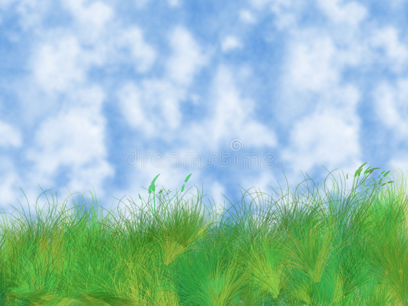 Erba e cielo royalty illustrazione gratis