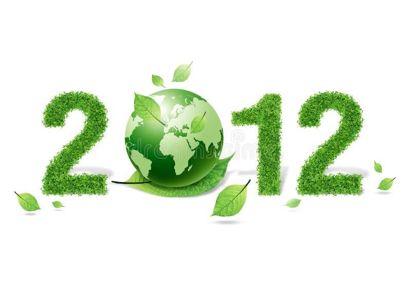 Erba e materiale verde del foglio, 2012 illustrazione vettoriale