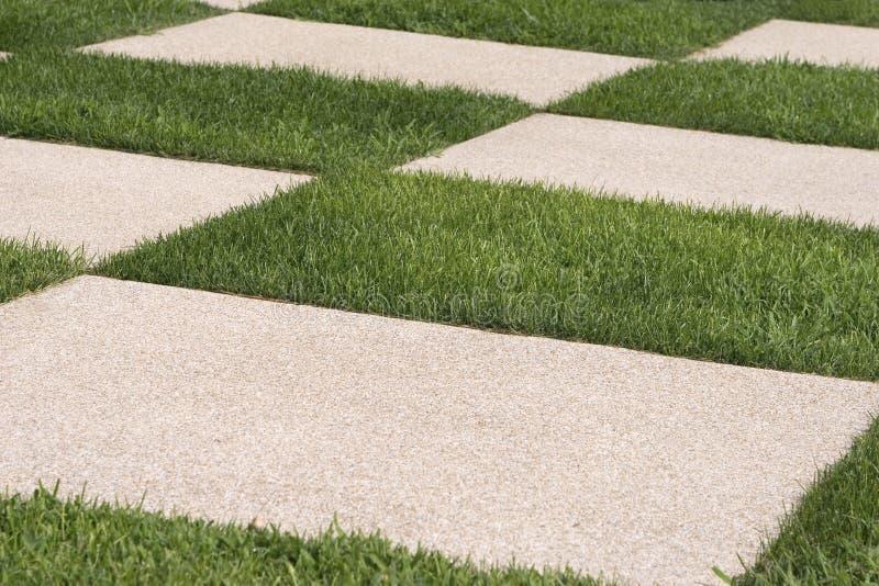 Erba e pavimentazione immagine stock