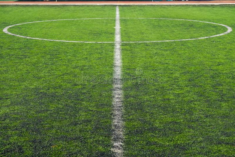 Erba verde del campo di football americano fotografia stock libera da diritti