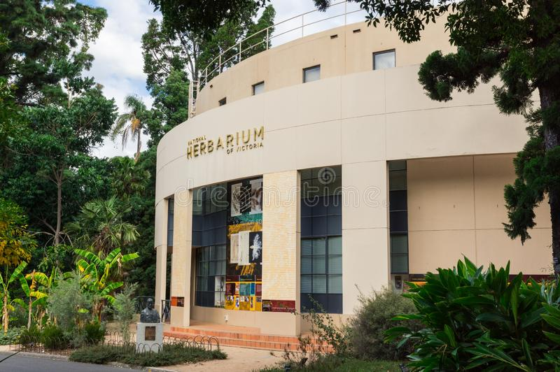 Erbario nazionale dell'edificio di Victoria nei giardini botanici reali a Melbourne fotografia stock libera da diritti