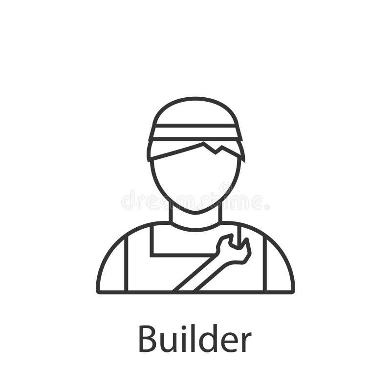 Erbauerikone Element der Berufavataraikone für mobile Konzept und Netz Apps Ausführliche Erbauerikone kann für Netz benutzt werde vektor abbildung