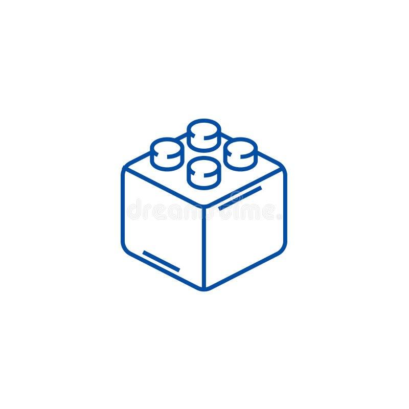 Erbauerziegelsteine zeichnen Ikonenkonzept Flaches Vektorsymbol der Erbauerziegelsteine, Zeichen, Entwurfsillustration vektor abbildung