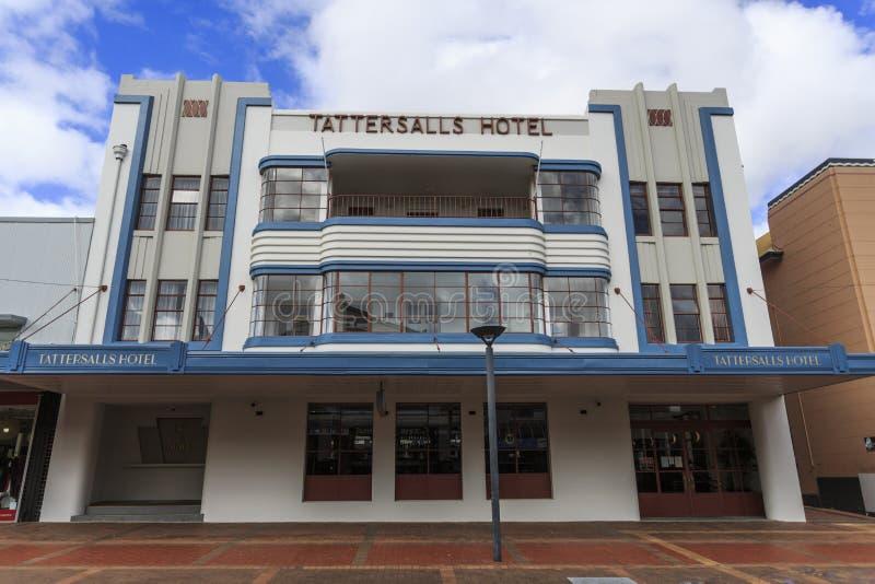 Erbe listete Art Deco Hotel auf stockfotografie